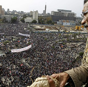Tahrir Square photo courtesy CBC News.
