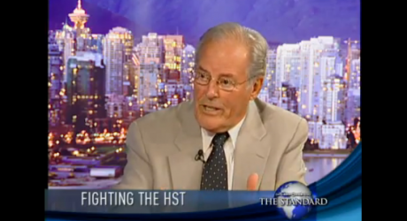 Screen capture of former BC Premier Bill Vander Zalm appearing on The Standard on JoyTV